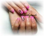 French roz cu fluturi