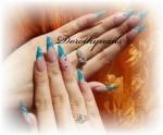 Unghii Stiletto Turquoise